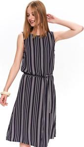 Sukienka Top Secret na ramiączkach z okrągłym dekoltem w stylu casual