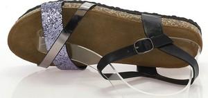 Brązowe sandały Royalfashion.pl w stylu casual