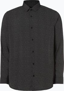86e0f6e4f809a Czarna koszula Armani Jeans w stylu casual z długim rękawem z klasycznym  kołnierzykiem