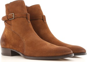 Brązowe buty zimowe Yves Saint Laurent w stylu casual