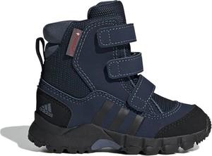 Buty dziecięce zimowe Adidas na rzepy w paseczki