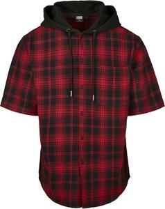 Czarna koszula Emp z bawełny z krótkim rękawem