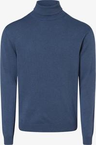 Niebieski sweter Finshley & Harding z kaszmiru w stylu casual