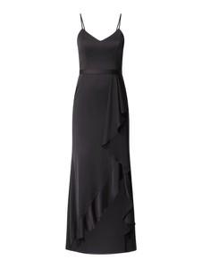 Czarna sukienka V.m. maxi na ramiączkach