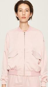 Różowa kurtka Sinsay krótka
