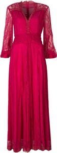 Czerwona sukienka Pinko z tkaniny
