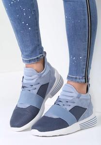 Niebieskie buty sportowe Renee z płaską podeszwą