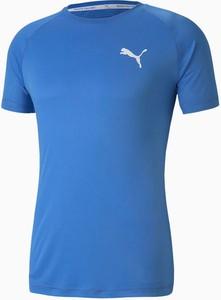 Niebieski t-shirt Puma z krótkim rękawem