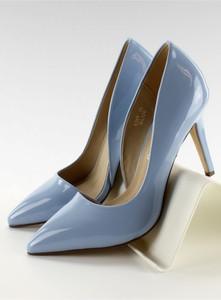 Błękitne szpilki Inello na szpilce w stylu klasycznym ze skóry ekologicznej