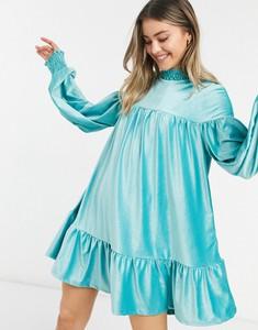 Turkusowa sukienka Asos mini