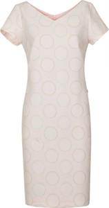 Sukienka poza.pl z krótkim rękawem z dekoltem w kształcie litery v