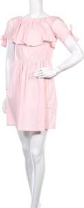 Sukienka Adeline z krótkim rękawem z okrągłym dekoltem mini