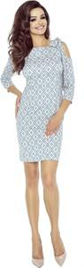 Sukienka Ptakmoda.com z okrągłym dekoltem w stylu casual ołówkowa