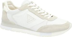 Buty sportowe Guess w sportowym stylu ze skóry sznurowane