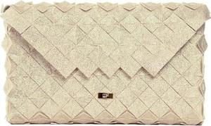 Złota torebka Marta Feliks w stylu glamour z tkaniny
