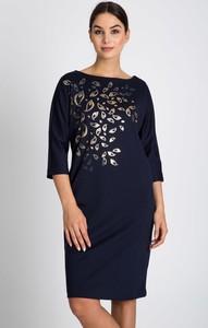 Sukienka QUIOSQUE z okrągłym dekoltem mini z długim rękawem