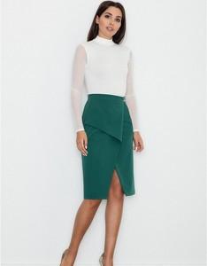 Zielona spódnica Figl midi