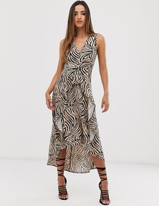Sukienka Ax Paris maxi z dekoltem w kształcie litery v