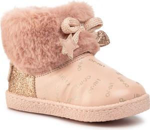 Złote buty dziecięce zimowe Liu-Jo na zamek
