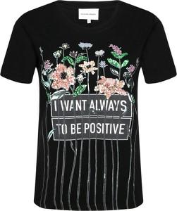 T-shirt Silvian Heach w młodzieżowym stylu z okrągłym dekoltem
