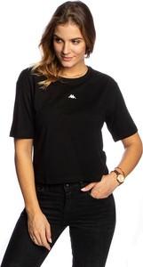Czarny t-shirt Kappa z krótkim rękawem