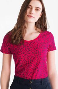 Różowy t-shirt YESSICA z bawełny