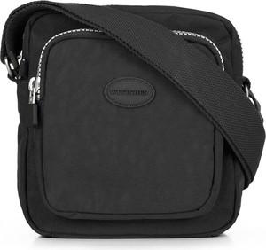 Czarna torebka Wittchen w stylu casual średnia na ramię