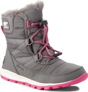 Buty dziecięce zimowe Sorel sznurowane z plaru