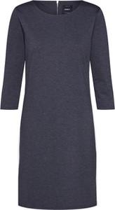 Fioletowa sukienka Only z okrągłym dekoltem z długim rękawem