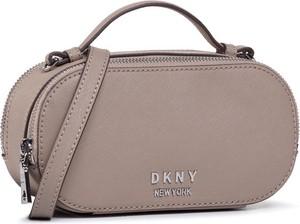 Brązowa torebka DKNY średnia na ramię