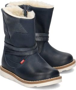 Niebieskie buty dziecięce zimowe EMEL na zamek