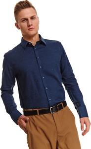 Koszula Top Secret z długim rękawem w stylu casual z kołnierzykiem button down