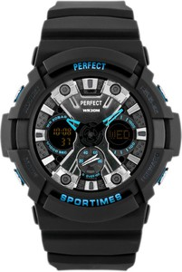 ZEGAREK MĘSKI PERFECT SPORTIMES A8002 (zp248c) - Czarny