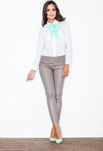 Brązowe spodnie Figl w street stylu