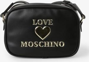 Czarna torebka Love Moschino średnia ze skóry na ramię