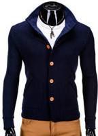 Granatowa bluza Ombre z bawełny