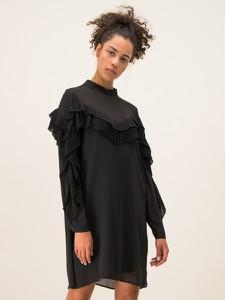 Czarna sukienka Silvian Heach oversize z długim rękawem w stylu casual
