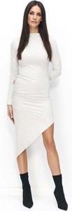 Sukienka Makadamia bodycon z bawełny z długim rękawem