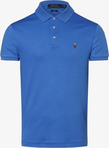 Niebieska koszulka polo POLO RALPH LAUREN z krótkim rękawem z bawełny