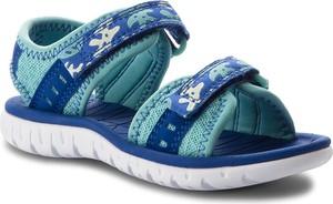 Niebieskie buty dziecięce letnie clarks na rzepy