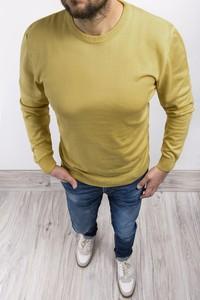 Żółty sweter Risardi w stylu casual