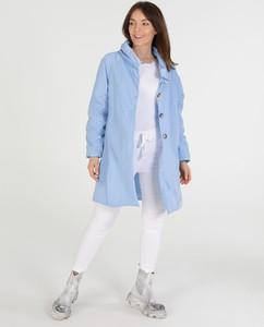 Niebieski płaszcz Unisono w stylu casual
