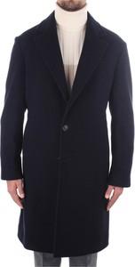 Niebieski płaszcz męski Brunello Cucinelli z kaszmiru