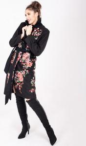 Czarny płaszcz ELEONORA PORTERA z wełny