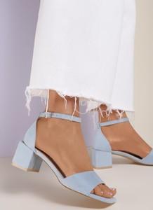 Niebieskie sandały Renee z klamrami