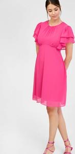 Sukienka ORSAY mini z okrągłym dekoltem z krótkim rękawem