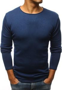 Niebieski sweter Dstreet z dzianiny w stylu casual
