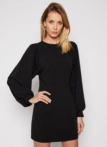 Czarna sukienka Imperial z szyfonu mini