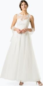Sukienka Luxuar Fashion z okrągłym dekoltem maxi w stylu glamour