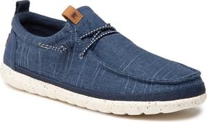 Granatowe buty Wrangler z płaską podeszwą